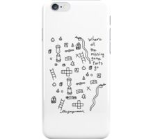 'Where all the Missing Game Parts go...' iPhone Case/Skin
