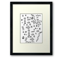 'Where all the Missing Game Parts go...' Framed Print