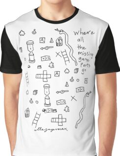 'Where all the Missing Game Parts go...' Graphic T-Shirt