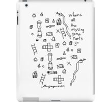 'Where all the Missing Game Parts go...' iPad Case/Skin