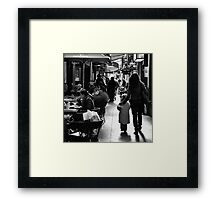 Let me show you the city. Framed Print