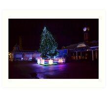 Pier Christmas Tree Art Print