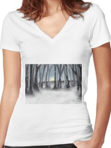 Winter Silence Women's Fitted V-Neck T-Shirt
