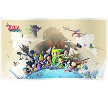 The Legend of Zelda: The Windwaker HD Poster