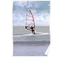 windsurfing in a storm Poster