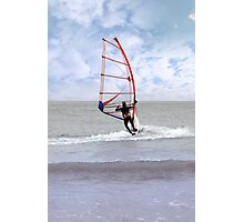 windsurfing in a storm Photographic Print