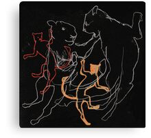 Dancing Sky Lions Canvas Print