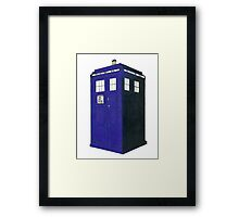 Tardis - Hand Drawn and Colored Framed Print