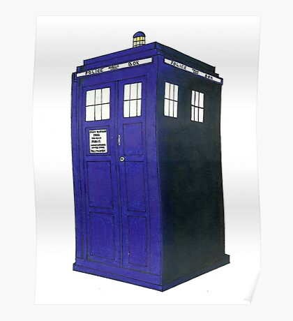 Tardis - Hand Drawn and Colored Poster