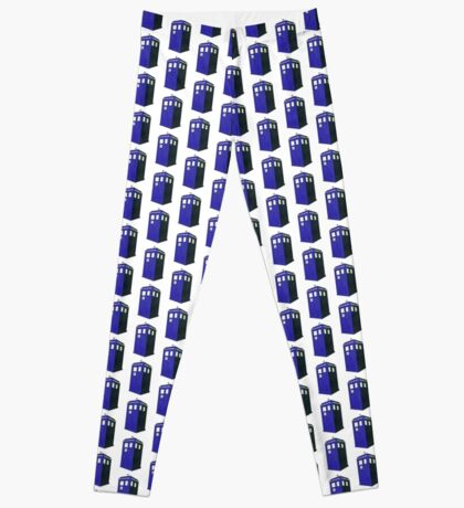 Tardis - Hand Drawn and Colored Leggings