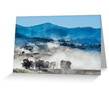 Morning mists over Dargo Greeting Card