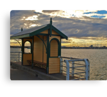 Shelter on the Pier Canvas Print