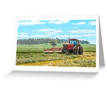 Mowing... Greeting Card