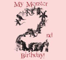 My Monster 2nd B-day Kids Tee