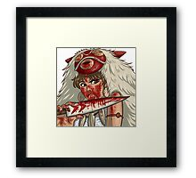 Mononoke's Bloody Knife Framed Print