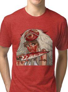 Mononoke's Bloody Knife Tri-blend T-Shirt