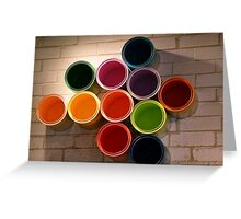 Buckets of Colour Greeting Card