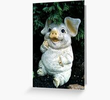 LITTLE MISS PIGGY - SOLD Greeting Card