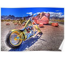 Chopper at Red Rock Poster