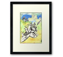 Wolf's Lesson - Lamb takes off Framed Print
