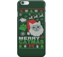 Merry Catmas Ugly Christmas iPhone Case/Skin