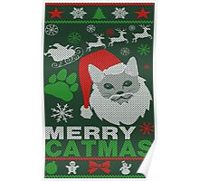 Merry Catmas Ugly Christmas Poster