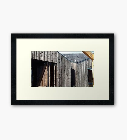 Wooden shack - near Falkirk, Scotland Framed Print