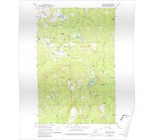 USGS Topo Map Washington State WA Cliff Ridge 240573 1964 24000 Poster