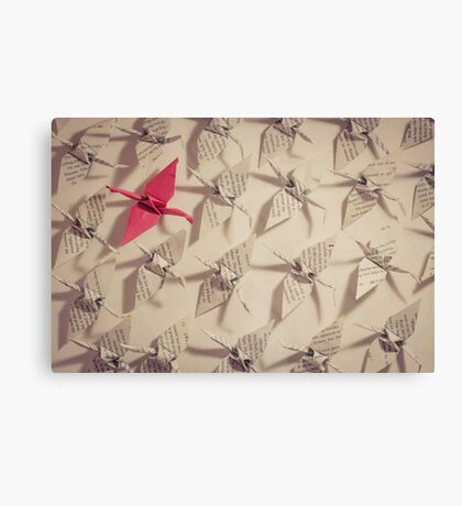 The Red Paper Crane Canvas Print