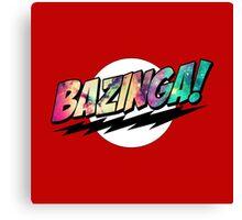 Bazinga Big Bang Theory Space Canvas Print