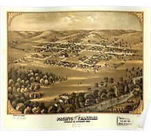 Panoramic Maps Pacific formerly Franklin Franklin Co Missouri 1869 Poster