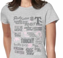 Quoted (Pink) Womens Fitted T-Shirt