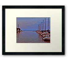 Nanabijou watching over the harbour Framed Print