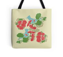 Geraniums and Blue Jays Tote Bag