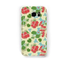 Geraniums and Blue Jays Samsung Galaxy Case/Skin