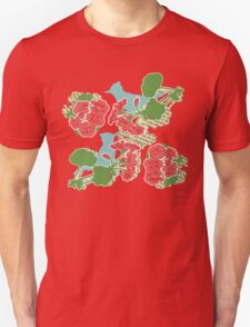 Geraniums and Blue Jays Unisex T-Shirt