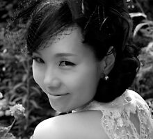 B&W Korean Bride by Valerie Rosen