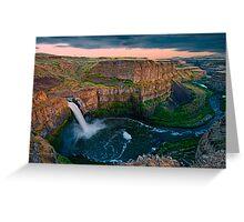 Palouse Falls Sunset Greeting Card