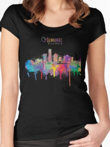 Milwaukee Skyline Women's Fitted Scoop T-Shirt