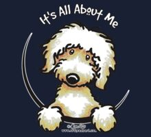 Yellow Labradoodle :: It's All About Me One Piece - Short Sleeve