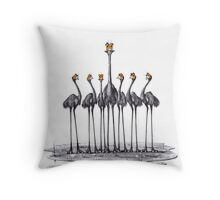 A Longneck and Six Stubbies (White) Throw Pillow