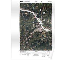 USGS Topo Map Washington State WA Newport 20110428 TM Poster