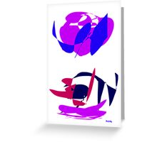 Purple Clouds  Greeting Card
