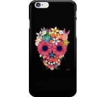 Skull Flowers - black iPhone Case/Skin