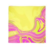 preppy vivid neon colorful hot pink yellow swirls  Scarf