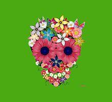 Skull Flowers - green by WAMTEES