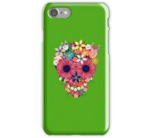 Skull Flowers - green iPhone Case/Skin