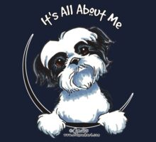 Black/White Shih Tzu :: It's All About Me Kids Tee