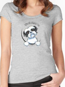 Black/White Shih Tzu :: It's All About Me Women's Fitted Scoop T-Shirt