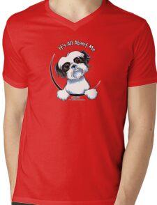 Black/White Shih Tzu :: It's All About Me Mens V-Neck T-Shirt